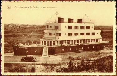 Paquebot S.S. NORMANDIE - Carte-postale classique Noir et blanc - Editeur : Ernest THILL - Bruxelles - Réf. Site : THILLP HOT-1-`&- PSB