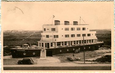 Paquebot S.S. NORMANDIE - Carte-postale classique Noir et blanc - Editeur : Ernest THILL - Bruxelles - Réf. Site : THILLP HOT1-46 PSB