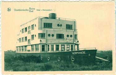 Paquebot S.S. NORMANDIE - Carte-postale classique Noir et blanc - Editeur : Ernest THILL - Bruxelles - Réf. Site : THILLP HOT1-48 PSB