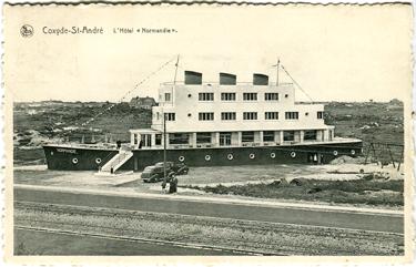 Paquebot S.S. NORMANDIE - Carte-postale classique Noir et blanc - Editeur : Ernest THILL - Bruxelles - Réf. Site : THILLP HOT1-90 PSB