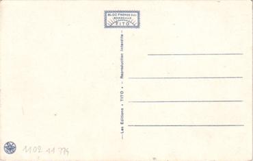S.S NORMANDIE - Carte postale classique couleurs TITO - BLOC FRERES - Réf. TITOCOC 12-12 Verso