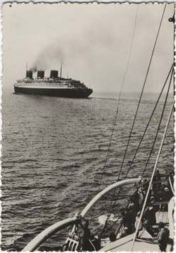 S.S NORMANDIE - CARTE POSTALE GRAND FORMAT GLACEE TITO SERIE 6-22