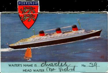 Paquebot S.S. NORMANDIE - Carte postale U.S.A Couleurs - Editeur Anonyme - Réf. Site : USACANOE 1-2 PSB