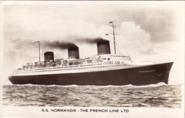 S.S NORMANDIE - Carte postale Angleterre - VALENTINE`S - Réf. 1-39-2 Recto