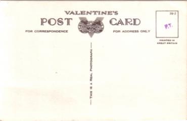 S.S NORMANDIE - Carte postale Angleterre - VALENTINE`S - Réf. 1-39-2 Verso